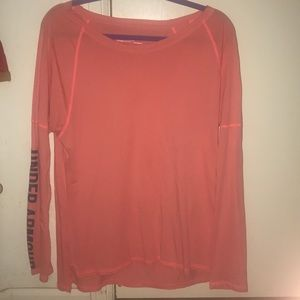 Bright pink Under Armour shirt